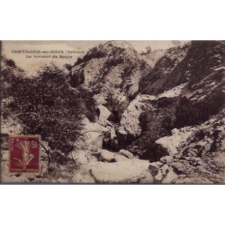 Carte postale 26 - Chatillon-en-Diois - Le torrent de Boule - Voyage - Dos divise...