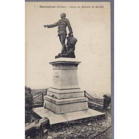 Carte postale 26 - Hauterives - Statue du general de Miribel