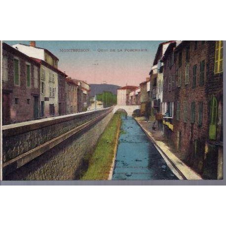 Carte postale 26 - Montbrison - Quai de la Porcherie