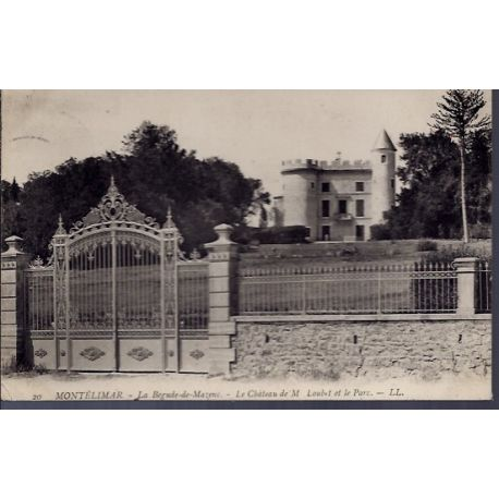 Carte postale 26 - Montelimar - La Begude-de-Mazenc - le chateau de M.Loubet et le parc -...