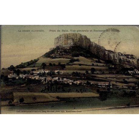 Carte postale 26 - Plan de Baix - Vue generale et rochers du Velan - Voyage - Dos divise...