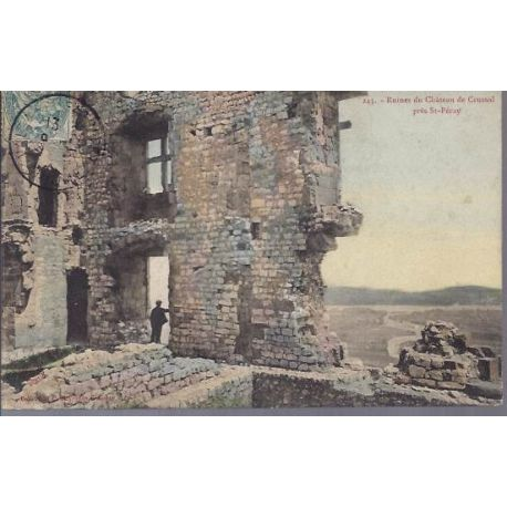Carte postale 26 - Ruines du chateau de Crussol