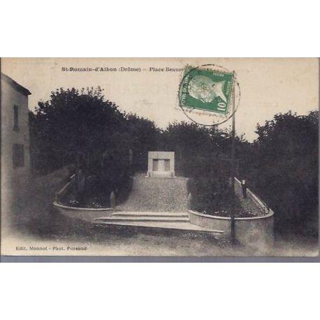 Carte postale 26 - St Romain d'Albon - Place