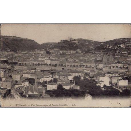Carte postale 26 - Vienne - Vue panoramique et Sainte-Colombe - Non voyage - Dos non divi...