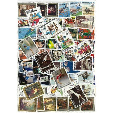 Centrafrique - 25 timbres différents