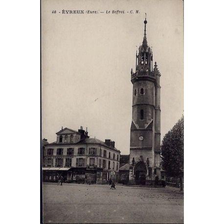Carte postale 27 - Evreux - Le Beffroi - Non voyage - Dos divise...