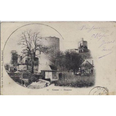 Carte postale 27 - Gisors - Donjons - Voyage - Dos non divise