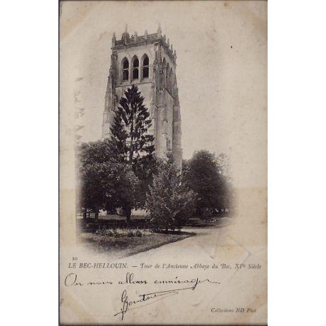 Carte postale 27 - Le Bec-Hellouin - Tour de l' ancienne Abbaye du Bec, XVeme siecle - Vo...