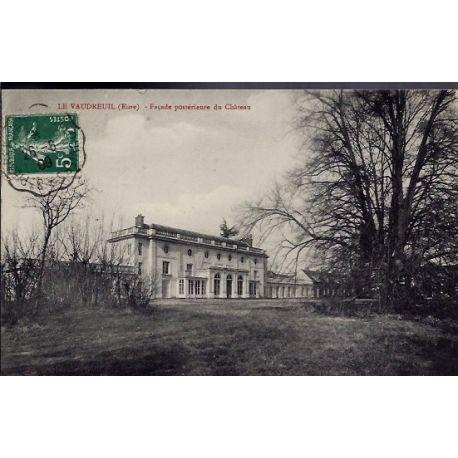 Carte postale 27 - Le Vaudreuil - Facade posterieure du chateau - Voyage - Dos divise...