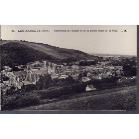 Carte postale 27 - Les Andelys - Panorama de l' eglise et de la partie Ouest de la Ville ...