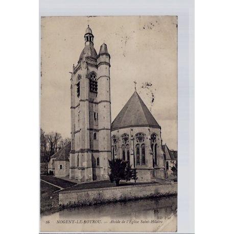 Carte postale 27 - Nogent-le-Rotrou - Abside de l' eglise Saint-Hilaire - Voyage - Dos di...