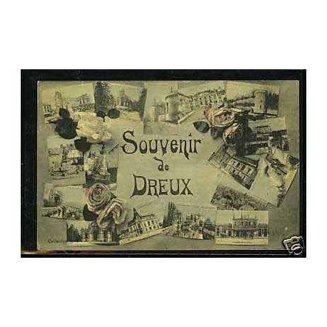 Carte postale 27 - Souvenir de Dreux - Carte multivue