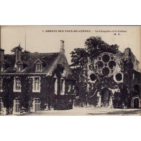 Carte postale 28 - Abbaye des Vaux-de-Cernay - La chapelle et le Cloitre - Non voyage - D...