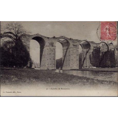 Carte postale 28 - Aqueduc de Maintenon - Voyage - Dos divise...