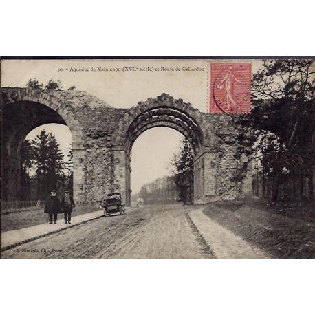 Carte postale 28 - Aqueduc de Maintenon XVIIeme siecle et route de Gallardon - Voyage - D...