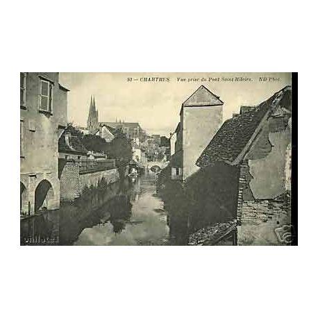 Carte postale 28 - Chartres - Vue prise du Pont Saint Hilaire