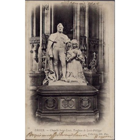 Carte postale 28 - Dreux - Chapelle Saint-Louis - tombeau de Louis-Philippe - Voyage - Do...