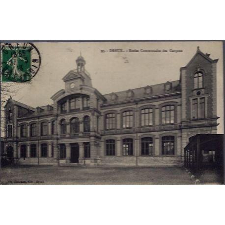 Carte postale 28 - Dreux - Ecoles Communales des Garcons - Voyage - Dos divise...