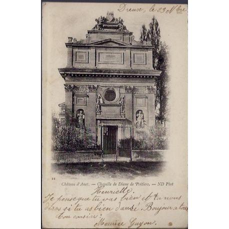 Carte postale 28 - Environs de Dreux - Chateau d ' Anet - Chapelle de Diane de Poitiers -...