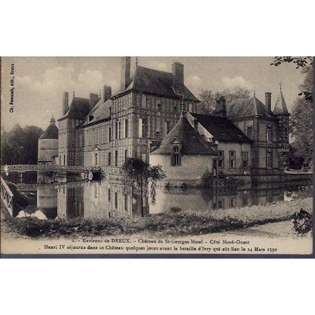 Carte postale 28 - Environs de Dreux - Chateau de St-Georges Motel - Cote Nord-Ouest - No...