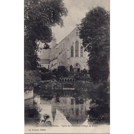 Carte postale 28 - Environs de dreux - Eglise de l'ancienne Abbaye du Breuil - Non voyage -