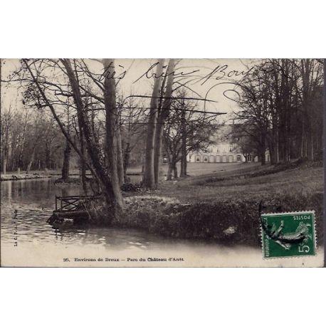 Carte postale 28 - Environs de Dreux - Parc du chateau d' Anet - Voyage - Dos non divise...