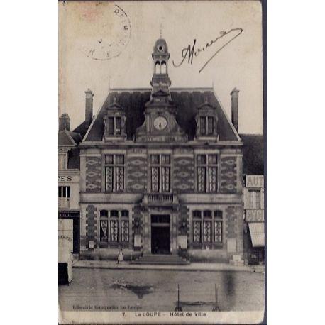 Carte postale 28 - La Loupe - Hotel de Ville - Voyage - Dos divise...