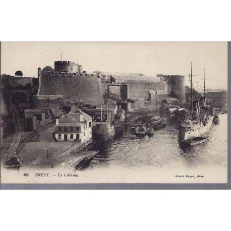 Carte postale 29 - Brest - Le chateau