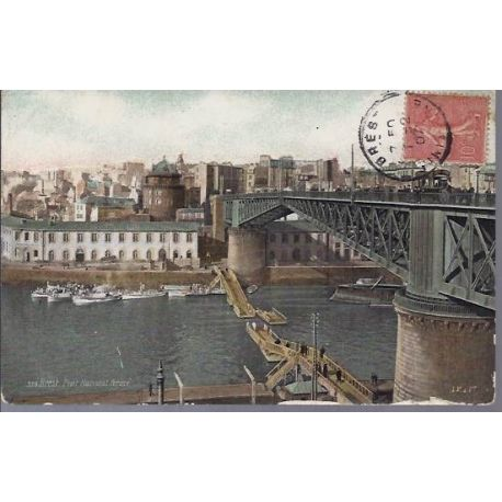 Carte postale 29 - Brest - Pont national ferme