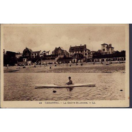 Carte postale 29 - Carantec - La greve Blanche - Voyage - Dos divise...