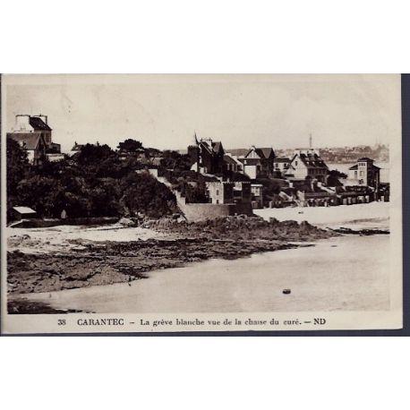 29 - Carantec - La greve blanche vue de la chaise du cure - Voyage - Dos di...