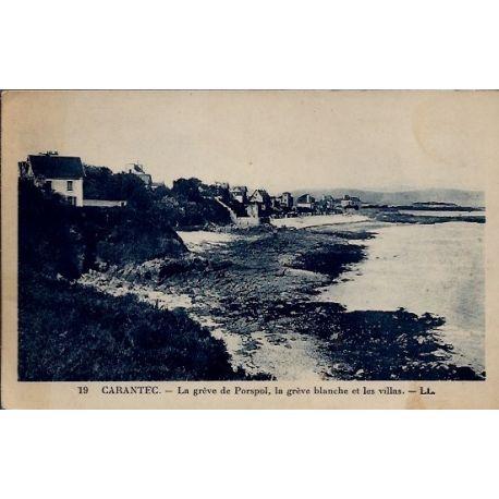 Carte postale 29 - Carantec - La greve de Porspol, la greve blanche et les villas - Voyag...