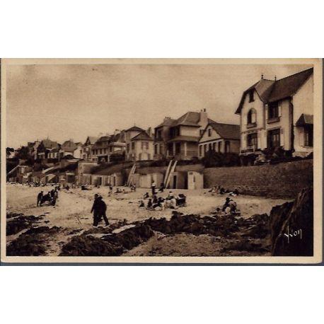 29 - Carantec - La plage de la greve blanche et les villas - Non voyage - D...