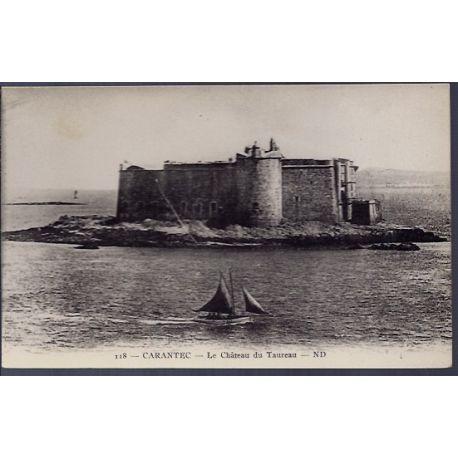 Carte postale 29 - Carantec - Le chateau du Taureau - Non voyage - Dos divise...