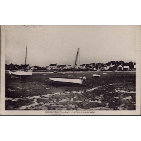 Carte postale 29 - Carantec - Le port a maree basse - Voyage - Dos divise...