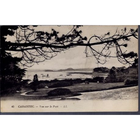 Carte postale 29 - Carantec - Vue sur le port - Voyage - Dos divise...