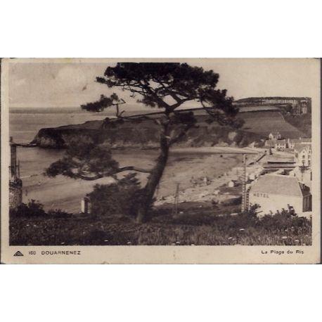 Carte postale 29 - Douarnenez - La plage du Ris - Voyage - Dos divise...
