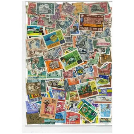 Ceylon - 50 different stamps