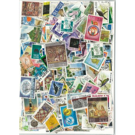 Ceylon - 50 different stamps