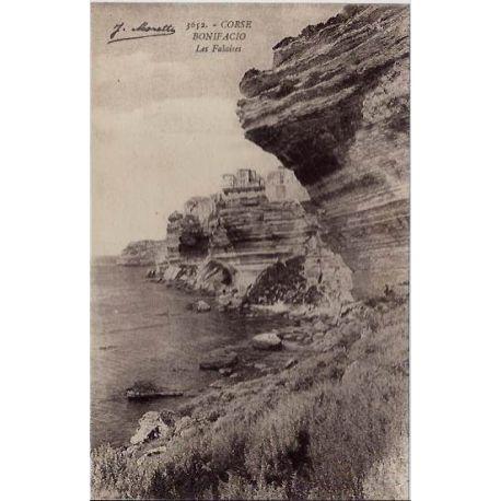 Carte postale 20 - Corse - Bonifacio - Les falaises - Non voyage - Dos divise