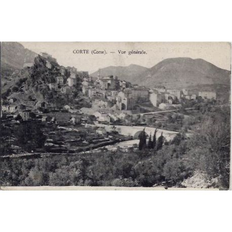 20 - Corte -Corse - Vue generale - Voyage - Dos divise