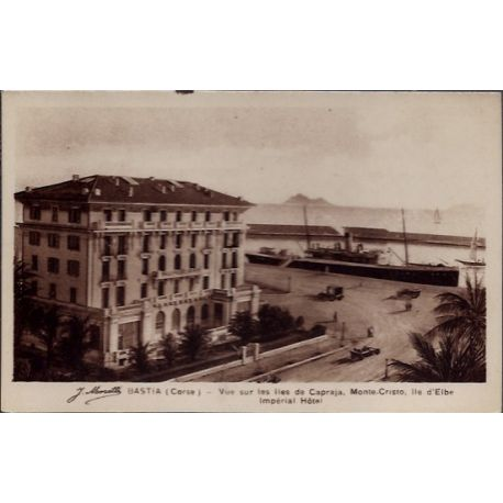 Carte postale 20 -Bastia - Vue sur les iles de Capraja - Monte-cristo - Ile d' Elbe imperi...