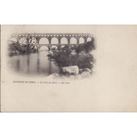Carte postale 30 - Environs de Nimes - Pont du Gard