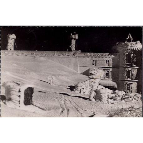 Carte postale 30 - Mont Aigoual - L' observatoire sous le givre en hiver - Voyage - Dos d...