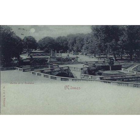 Carte postale 30 - Nimes - Jardin de la Fontaine