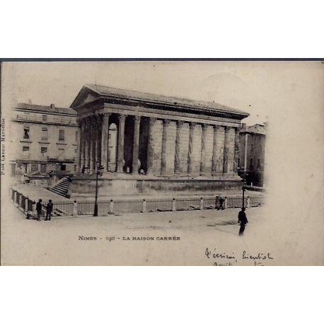 Carte postale 30 - Nimes - la maison carree - Voyage - Dos non divise...