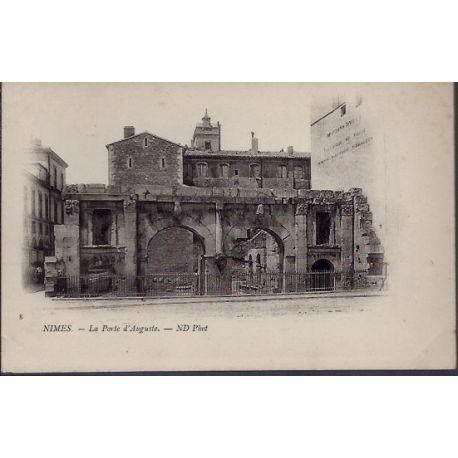 Carte postale 30 - Nimes - la porte d' Auguste - Non voyage - Dos non divise...