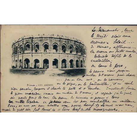 Carte postale 30 - Nimes - les Arenes - Voyage - Dos non divise...