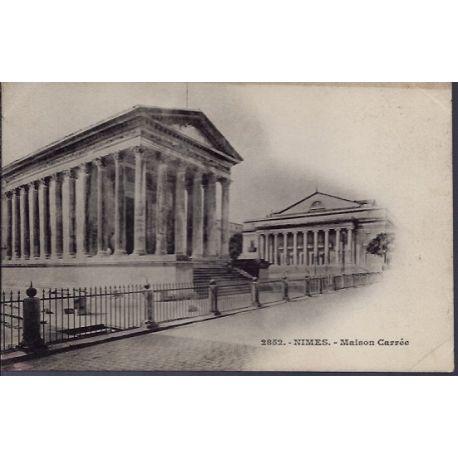 Carte postale 30 - Nimes - maison carree - Non voyage - Dos non divise...