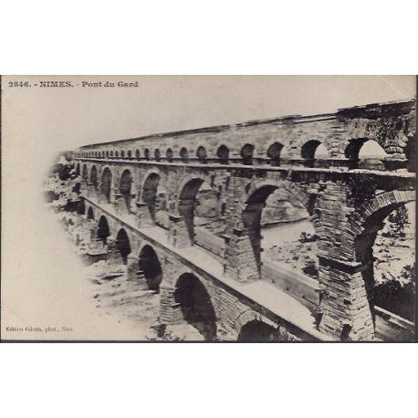 Carte postale 30 - Nimes - Pont du Gard - Non voyage - Dos non divise...